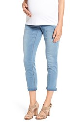 1822 Denim Women's 'Ankle Biter' Over The Bump Rolled Cuff Maternity Skinny Jeans Mojave