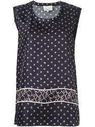 3.1 Phillip Lim Printed Satin Tank Top Blue