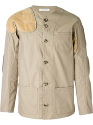 J.W.Anderson J.W. Anderson Suede Patch Jacket Nude And Neutrals
