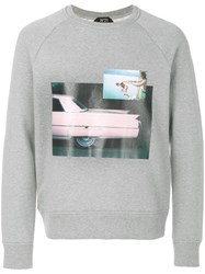 N 21 No21 Photo Print Sweatshirt Grey