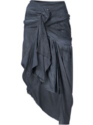 Vivienne Westwood Gold Label Draped Asymmetric Skirt Grey