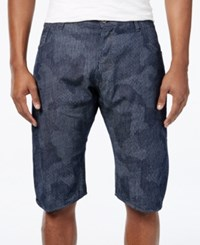 Gstar Men's Arc Camo Shorts Blue