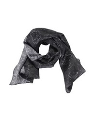 Les Hommes Oblong Scarves Steel Grey