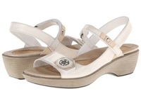 Naot Footwear Reserve Dusty Silver Leather Champagne Leather Dusty Silver Leather Women's Wedge Shoes Bone