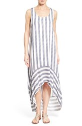 Women's Pleione Stripe High Low Maxi Dress