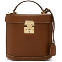 Mark Cross Brown Saffiano Benchley Bag