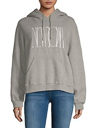 Public School Graphic Heathered Hoodie Heather Grey