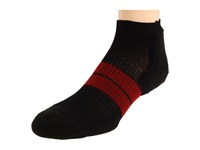 Thorlos 84N Micro Mini 3 Pair Pack Black Red Men's No Show Socks Shoes