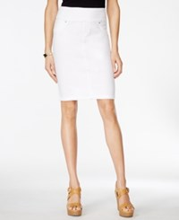 Styleandco. Style And Co. Pull On Bright White Wash Denim Skirt Only At Macy's