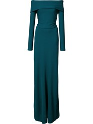 Derek Lam Bardot Long Sleeve Gown Green