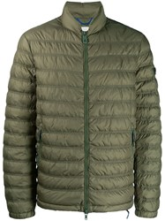 Peuterey Padded Jacket With Logo Tag Green