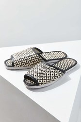 Urban Outfitters Woven Slide Black And White