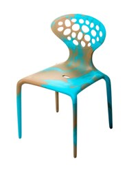Moroso Limit.Ed Supernatural Set Of 4 Chairs Brown Blue
