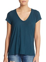 James Perse V Neck Cotton And Modal Tee Laurel