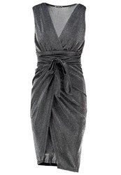 Wal G G. Jersey Dress Silver Metallic