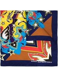 Mary Katrantzou Abstract Print Scarf Multicolour
