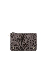 Jerome Dreyfuss Large Popoche In Animal Print Gray