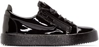 Giuseppe Zanotti Black Patent Leather London Sneakers
