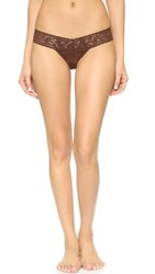 Hanky Panky Signature Lace Low Rise Thong Chestnut