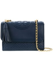 Tory Burch Fleming Small Convertible Shoulder Bag Blue