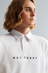 Lazy Oaf Not Today Rugby Shirt White