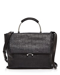 Etienne Aigner Croc Embossed Paley Satchel