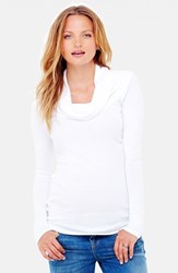 Women's Ingrid And Isabel Cowl Neck Maternity Tee Bright White