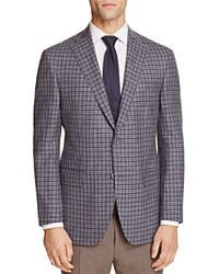Jack Victor Loro Piana Grid Check Classic Fit Sport Coat 100 Exclusive Blue