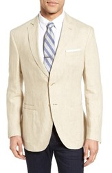 Jkt New York Men's Trim Fit Linen Blazer Light Tan