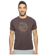 Prana Calder Short Sleeve Tee Charcoal Men's T Shirt Gray