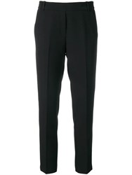 Kiltie Tailored Cropped Trousers Black