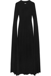 Norma Kamali Open Back Jersey Maxi Dress Black