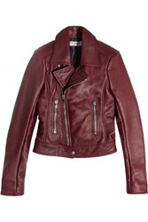 Balenciaga Leather Biker Jacket Claret