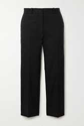 Joseph Bing Cropped Cotton Blend Twill Straight Leg Pants Black