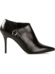 Ballin Piercing Detail Ankle Boots Black