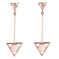 Sophie Blake Clara Drop Earrings Rose Gold Finish