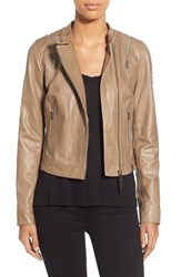 Women's Rudsak Zip Detail Leather Moto Jacket