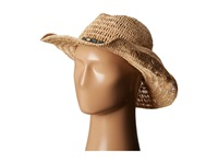 Hat Attack Raffia Openweave Cowboy Natural Aqua Geo Jewels Cowboy Hats Beige