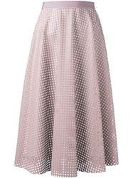 Roberto Collina Laser Cut Full Skirt Nude And Neutrals