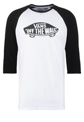 Vans Long Sleeved Top White Black