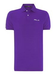 Rlx Ralph Lauren Performance Solid Polo Purple