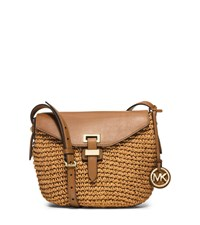 Michael Michael Kors Naomi Medium Woven Straw Crossbody