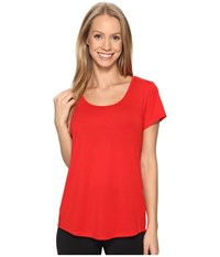 Lucy S S Workout Tee Saucy Red Women's Workout