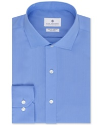 Ryan Seacrest Distinction Non Iron Slim Fit Blue Solid Dress Shirt