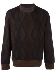 Etro Geometric Pattern Sweatshirt Brown