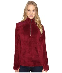 Kuhl Alto 1 4 Zip Claret Women's Long Sleeve Pullover Red