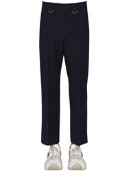 Valentino 24Cm Virgin Wool Pants Navy