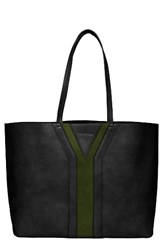 Urban Originals Streetstyle Faux Leather Tote Black Black Green