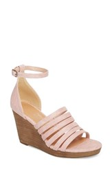 Coconuts By Matisse Kiera Wedge Sandal Blush Fabric