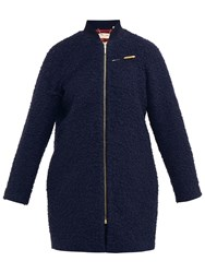 Ted Baker Colour By Numbers Yernie Cocoon Coat Dark Blue